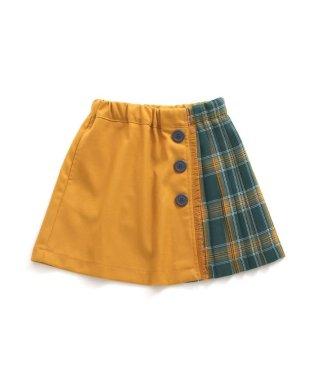 ネット限定 チェック切替スカート