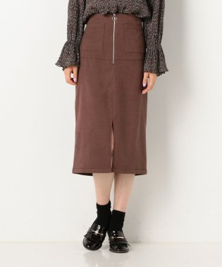 フロントzipタイトスカート
