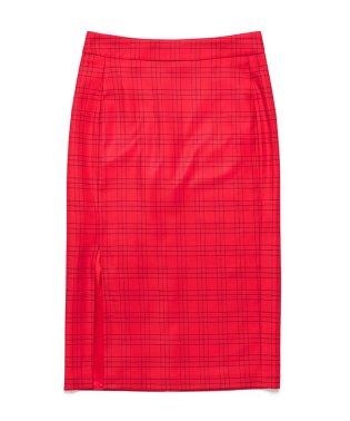 ソフトサキソニーチェックタイトスカート