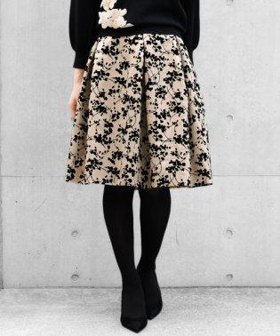 エリーヌサテンフラワー スカート