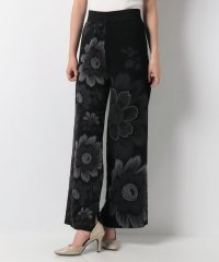 WOMAN FLAT KNIT LONG TROUSERS