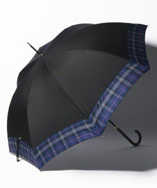 先染めタータンチェック柄晴雨兼用長傘 雨傘