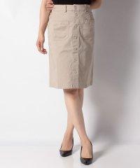 【fine selection/ファインセレクション】PマエボタンAラインスカート