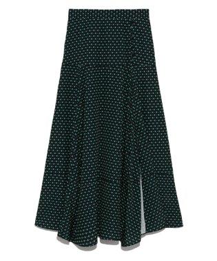 ランダムヘム小紋柄スカート