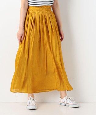 シワ加工サテンギャザースカート