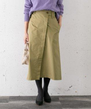 ラップ風デザインベルトスカート