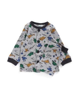 恐竜柄前開きパジャマ