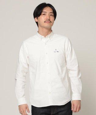 BEAMS / ストレッチオックス アニマル ワッペン ボタンダウンシャツ