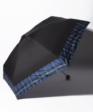 先染めタータンチェック柄晴雨兼用折りたたみ傘 雨傘