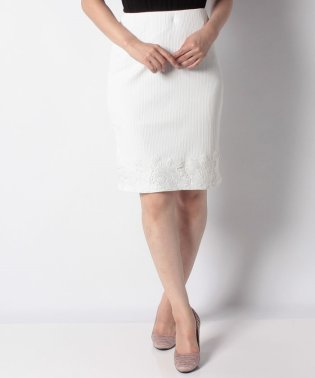 【Delyle noir】・裾レースリブスカート