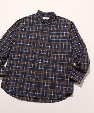 オーバーサイズ チェックシャツ