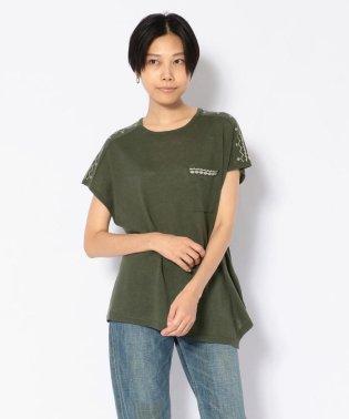 刺繍アシメントリーTシャツ/ASYMMENTRY T-SHIRT