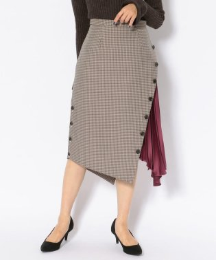 【GO OUT 11月号掲載】EZUMi(エズミ)別注プリーツコンビ千鳥柄スカート
