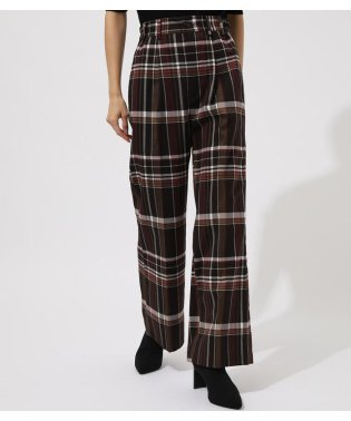 CHECK SEMI FLARE PANTS