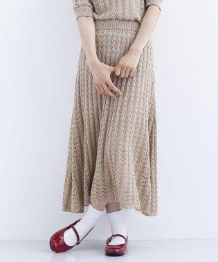 かぎ編みレースサマーニットスカート