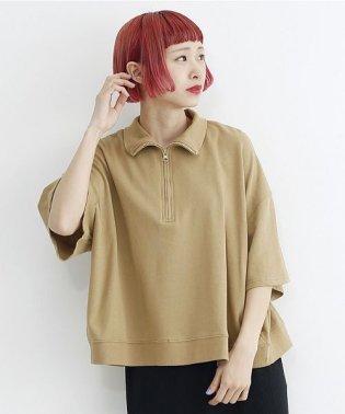 ハーフジップポロシャツ