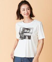 モノクロフォトプリントTシャツ