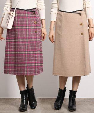 【19AW】【SS/S/Lサイズあり】ウールリバーシブルミディスカート