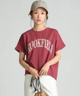 【socolla】カレッジロゴプリントTシャツ