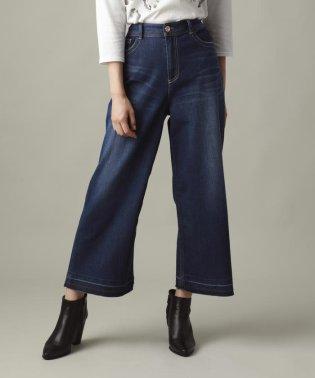 【ウォッシャブル】ホイップデニムワイドパンツ(evex jeans)