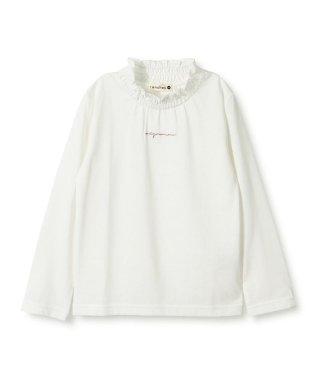 ギャザーフリル衿長袖Tシャツ