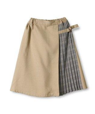 プリーツ切り替えスカート
