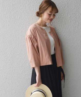 【SHIPS for women】PSO:CTN/PL TYPEWRITER BLOUSON