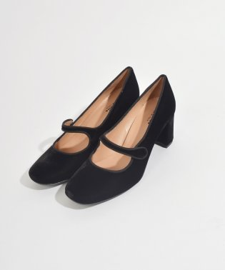 【SHIPS for women】STATUS:VELVET SQ TOE HEEL