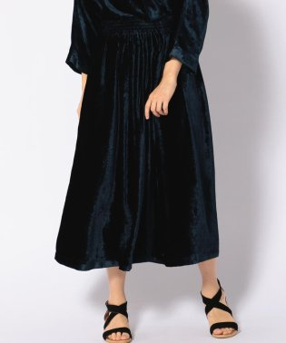 【SHIPS for women】(3253)3253NL:VELVET GATHER SK