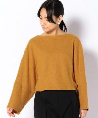【SHIPS for women】ELIN:BOUCLE BACK GATHER TOP