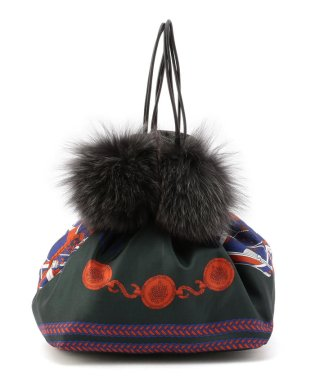 【SHIPS for women】MANIPURI:FUR COMBI BAG