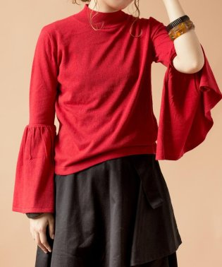 【SHIPS for women】(2533)BS:SLIT SLEEVE  KNIT
