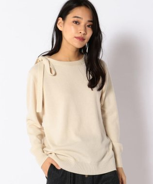 【SHIPS for women】(3253)NL:WL/CA NECK RIBBON P