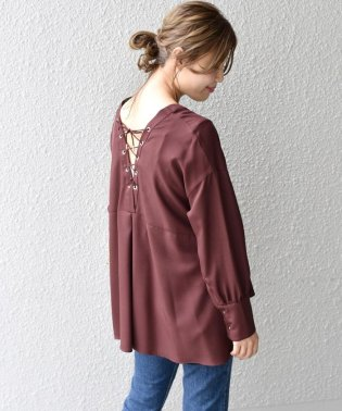 【khaju】(2937)Khaju:LACE UP TUCK BL