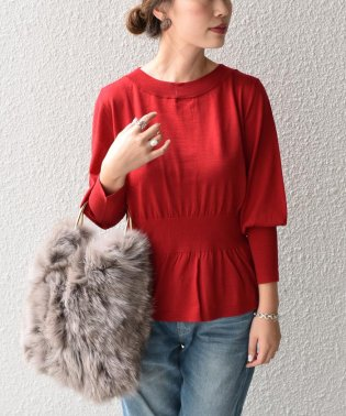 【SHIPS for women】(2953)PSO:WAIST SHIRRING KNIT