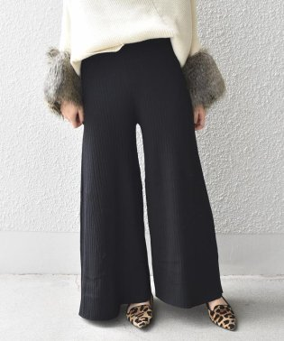 【SHIPS for women】(3053)PSO:RIB FLAIR PANTS
