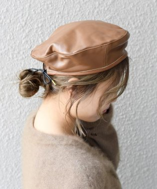 【khaju】CASSELINI:LEATHER BERET