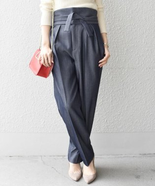 【SHIPS for women】3744WC:HC 2TUCK BELTED RBN DEN
