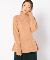 【SHIPS for women】ELIN:GATHER TURTLE KNIT