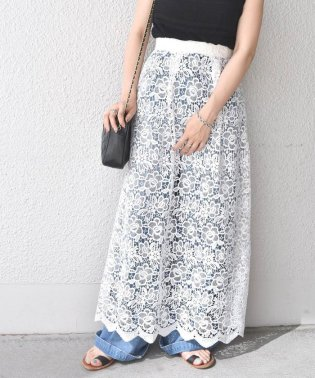 【SHIPS for women】(2332)WCO:LACE MAXI SK
