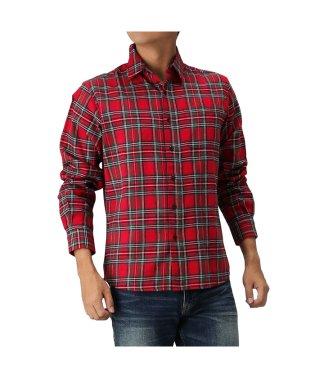Navy フランネルシャツ チェック レギュラーシャツ NG195-MF021