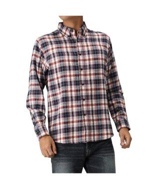 Navy フランネルシャツ チェック ボタンダウンシャツ NG195-MF020