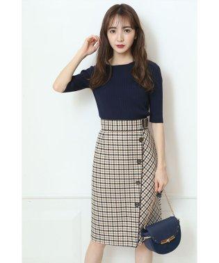 【美人百花・andGIRL10月号掲載】カラーチェックタイトスカート