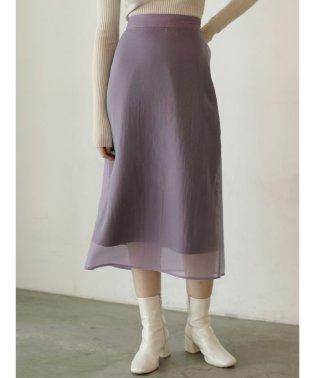 オーガンジーナロースカート