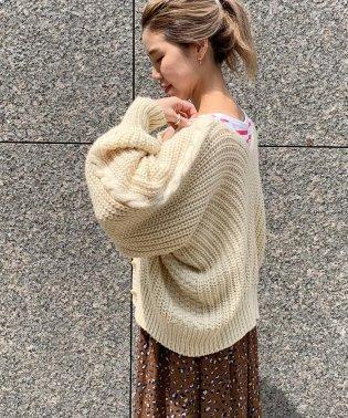 手編み風変形カーディガン