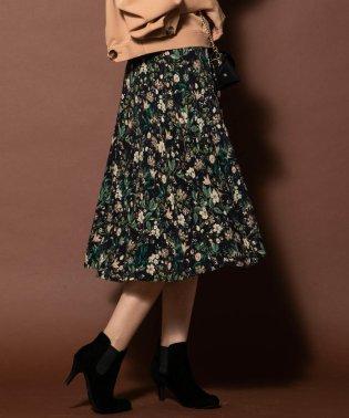 【WEB・一部店舗別注】ボタニカルフラワーフレアスカート
