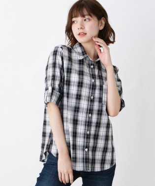 【WEB限定サイズ・04(LL)あり/手洗い可】コットンチェックシャツ