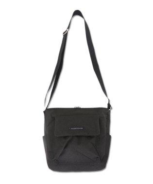 杢調フラップポケットショルダーバッグ(レディース バッグ ブラック ベージュ グレー 鞄 カバン ショルダーバッグ フラップポケット 斜めがけ 大人可愛い 収納