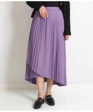 ラップデザインプリーツスカート