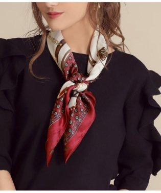 チェーン柄大判スカーフ
